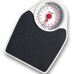 Salter 145 Mechanical Bathroom Scale – Silver Black