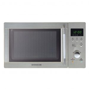 Daewoo KOR6N7RS Touch Control Solo Microwave Oven, 20 Litre, 1300 W, Stainless Steel