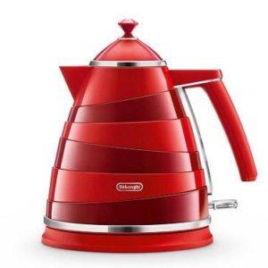 De'Longhi Avvolta KBA3001.W Wraparound Design Kettle, 1.7L – Red