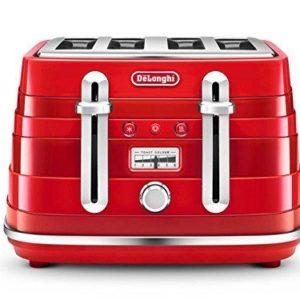 De'Longhi Avvolta CTA4003.R Wraparound Design Toaster – Red